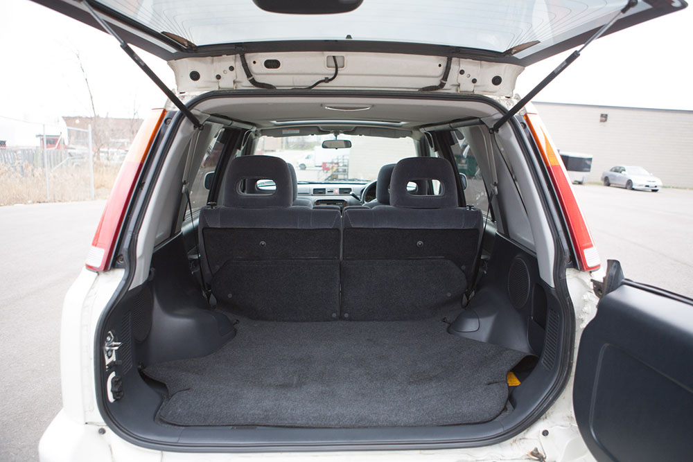 White CRV trunk
