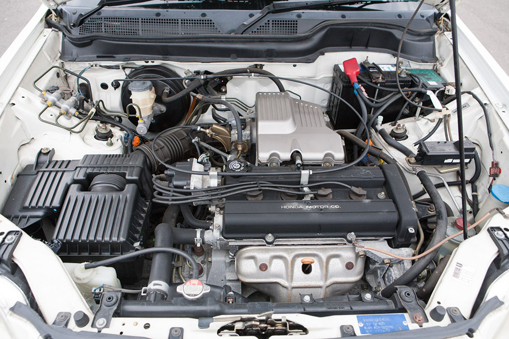 White CRV engine